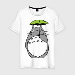 Футболка хлопковая мужская Totoro с зонтом - фото 1