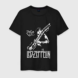 Футболка хлопковая мужская Led Zeppelin цвета черный — фото 1
