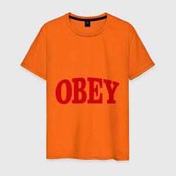 Футболка хлопковая мужская OBEY цвета оранжевый — фото 1