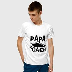 Футболка хлопковая мужская Papa Roach цвета белый — фото 2
