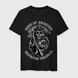 Футболка хлопковая мужская Sons of Anarchy: Redwood Original цвета черный — фото 1