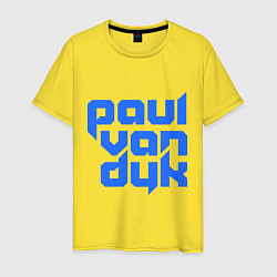 Футболка хлопковая мужская Paul van Dyk: Filled цвета желтый — фото 1