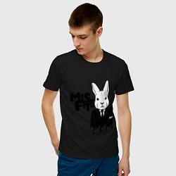 Футболка хлопковая мужская Misfits Rabbit цвета черный — фото 2