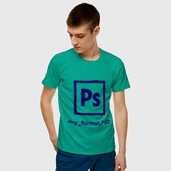 Футболка хлопковая мужская Photoshop цвета зеленый — фото 2