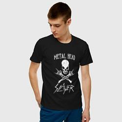 Футболка хлопковая мужская Metal Head: Slayer цвета черный — фото 2