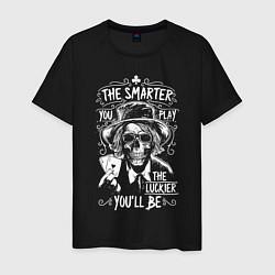 Футболка хлопковая мужская The Smarter & The Lucker цвета черный — фото 1