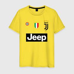 Футболка хлопковая мужская FC Juventus цвета желтый — фото 1