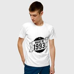 Футболка хлопковая мужская Made in 1993 цвета белый — фото 2
