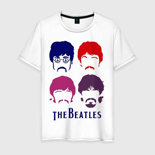 Мужская футболка The Beatles faces / Белый – фото 1