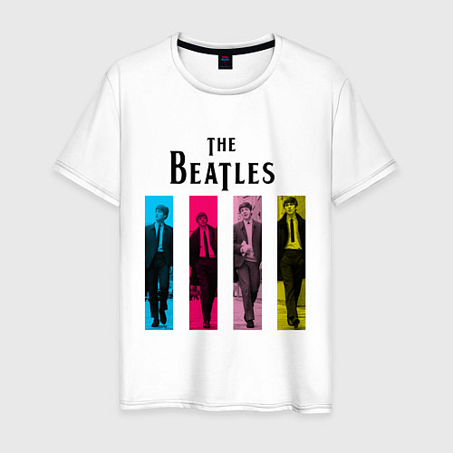 Мужская футболка Walking Beatles / Белый – фото 1