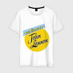 Футболка хлопковая мужская John Lennon: The Beatles цвета белый — фото 1