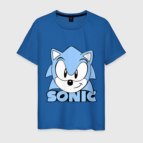 Мужская футболка Соник / Синий – фото 1