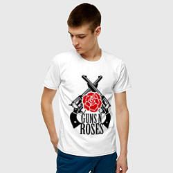 Футболка хлопковая мужская Guns n Roses: guns цвета белый — фото 2