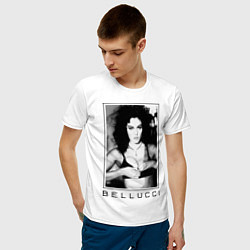 Футболка хлопковая мужская Monica Bellucci: Black цвета белый — фото 2