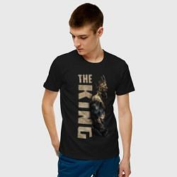 Мужская хлопковая футболка с принтом McGregor: The King, цвет: черный, артикул: 10162909100001 — фото 2