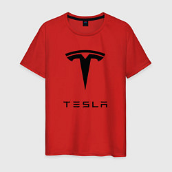 Футболка хлопковая мужская TESLA Mobile цвета красный — фото 1