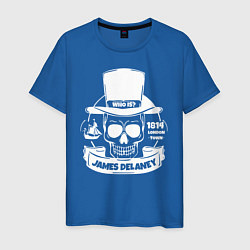 Футболка хлопковая мужская Taboo: James Delaney цвета синий — фото 1