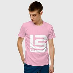 Футболка хлопковая мужская Lebron James цвета светло-розовый — фото 2