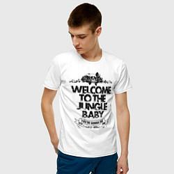 Футболка хлопковая мужская Welcome to the Jungle цвета белый — фото 2