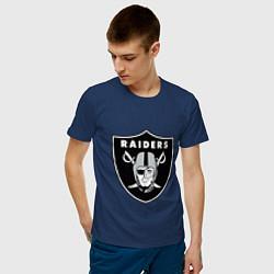 Футболка хлопковая мужская Raiders цвета тёмно-синий — фото 2