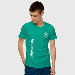 Футболка хлопковая мужская VOLKSWAGEN цвета зеленый — фото 2
