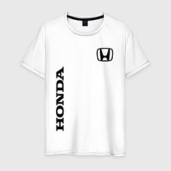 Мужская хлопковая футболка с принтом HONDA, цвет: белый, артикул: 10173934100001 — фото 1