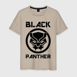 Футболка хлопковая мужская Черная пантера цвета миндальный — фото 1