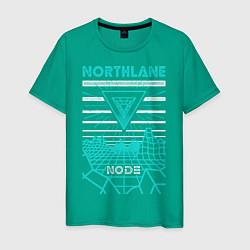 Футболка хлопковая мужская Northlane: Node цвета зеленый — фото 1