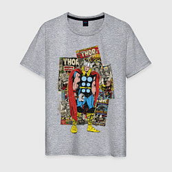Футболка хлопковая мужская Thor цвета меланж — фото 1