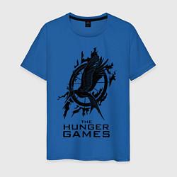 Футболка хлопковая мужская The Hunger Games цвета синий — фото 1