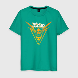 Футболка хлопковая мужская The Wasp цвета зеленый — фото 1