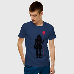 Футболка хлопковая мужская Pennywise цвета тёмно-синий — фото 2