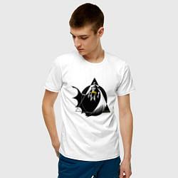 Футболка хлопковая мужская Batman цвета белый — фото 2