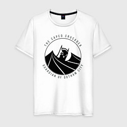 Футболка хлопковая мужская Gotham city цвета белый — фото 1