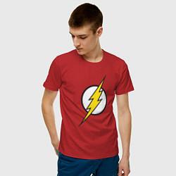 Футболка хлопковая мужская Flash цвета красный — фото 2