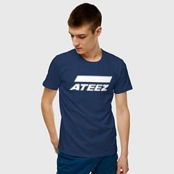 Мужская хлопковая футболка с принтом Ateez, цвет: тёмно-синий, артикул: 10196048700001 — фото 2