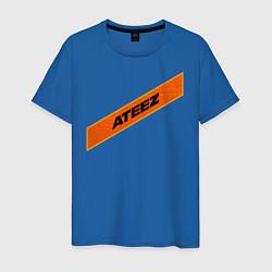 Мужская хлопковая футболка с принтом Ateez, цвет: синий, артикул: 10196160300001 — фото 1