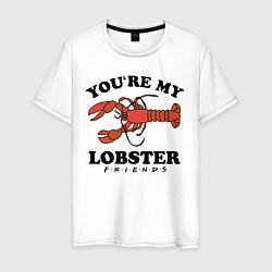 Футболка хлопковая мужская Youre my Lobster цвета белый — фото 1