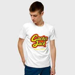 Футболка хлопковая мужская Cactus Jack цвета белый — фото 2
