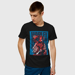 Футболка хлопковая мужская Harley Quinn Harley Quinn цвета черный — фото 2