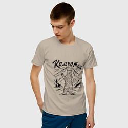 Футболка хлопковая мужская Камчатка цвета миндальный — фото 2