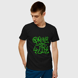 Футболка хлопковая мужская Grove Street цвета черный — фото 2