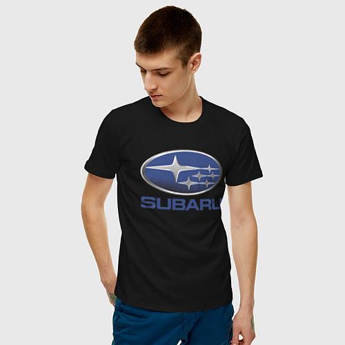 Мужская футболка SUBARU / Черный – фото 3