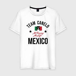 Футболка хлопковая мужская Team Canelo цвета белый — фото 1
