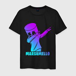 Футболка хлопковая мужская MARSHMELLO цвета черный — фото 1