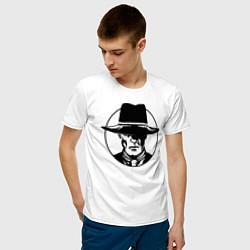 Футболка хлопковая мужская Westworld цвета белый — фото 2