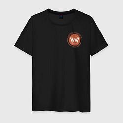 Футболка хлопковая мужская Westworld Logo цвета черный — фото 1