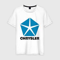 Футболка хлопковая мужская Chrysler цвета белый — фото 1