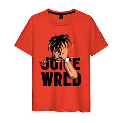 Футболка хлопковая мужская Juice WRLD цвета рябиновый — фото 1