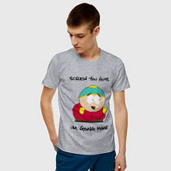 Футболка хлопковая мужская ЮЖНЫЙ ПАРК цвета меланж — фото 2